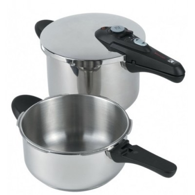 OLLA SUPER RAPIDA SET DUO 4 Y 7L INOX BRA
