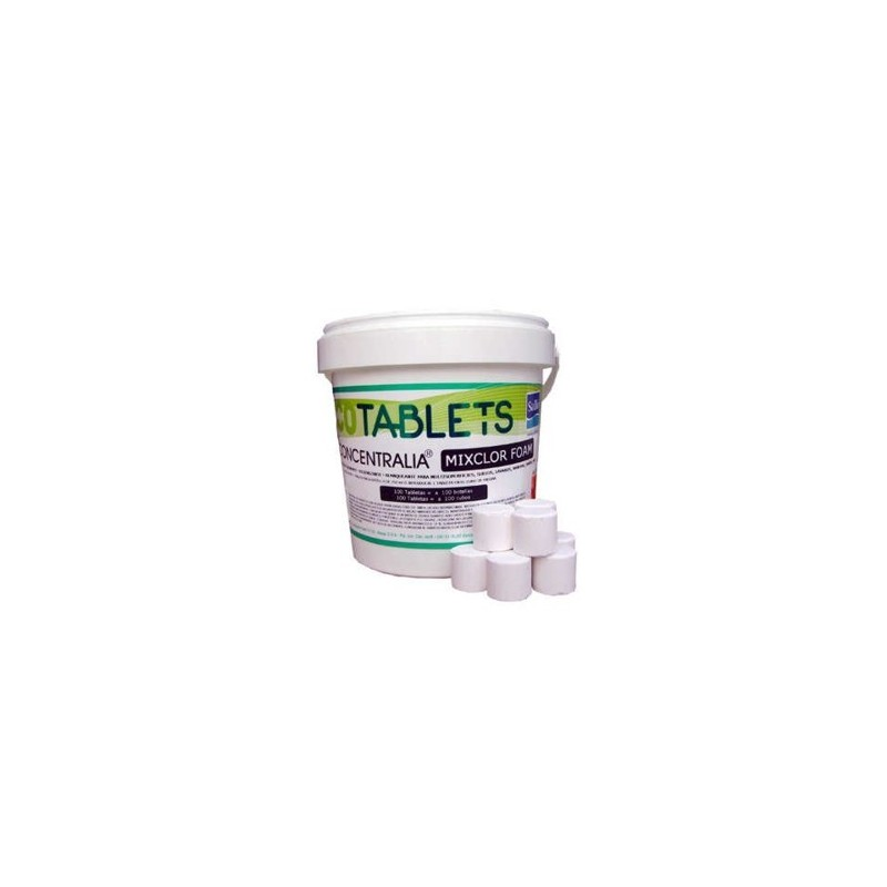 CONCENTRALIA MIXCLOR FOAM 1 Kg 100 Tabletas