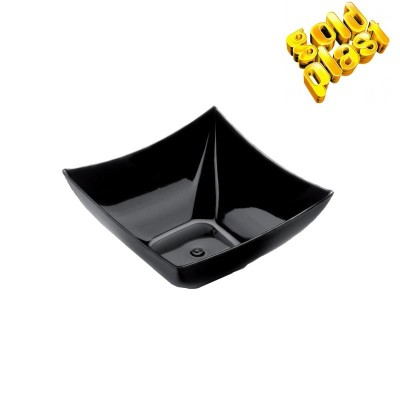 BOWL MINI 7cm CUADRATA FINGUERFOOD NEGRO B25 PS