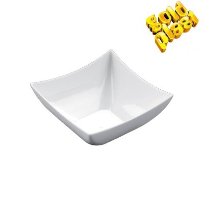 BOWL MINI 7cm CUADRATA FINGUERFOOD BCO. B25 PS