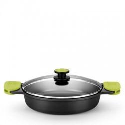 BLACK WHITE PLATO REDONDO PICOTEO 15 cm 24