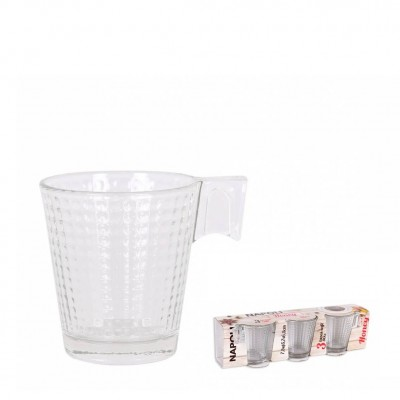 SET 3 TAZAS CAFE NAPOLI HONEY 80cc