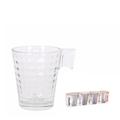 SET 4 TAZAS CAPUCCINO NAPOLI HONEY 200cc