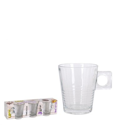 SET 3 TAZAS CAFE LIMA HALF WAVE 80cc
