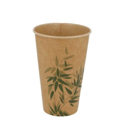 ** VASO CARTON 360ml FEEL GREEN KRAFT B100 C20