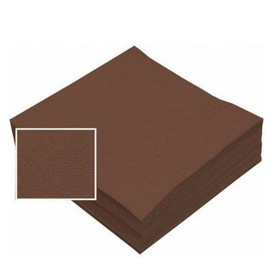 **SERVILLETA 40X40 2C MARRON 50 Uds C16