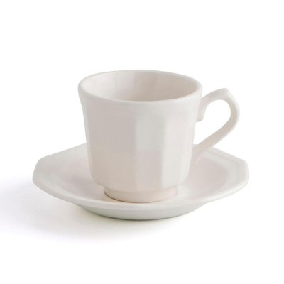 ** SET 2 TAZAS C/PLATO 16CL ARTIC WHITE CHURCHILL