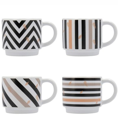** SET 4 TAZAS GRES 22CL IN LOVE QUID